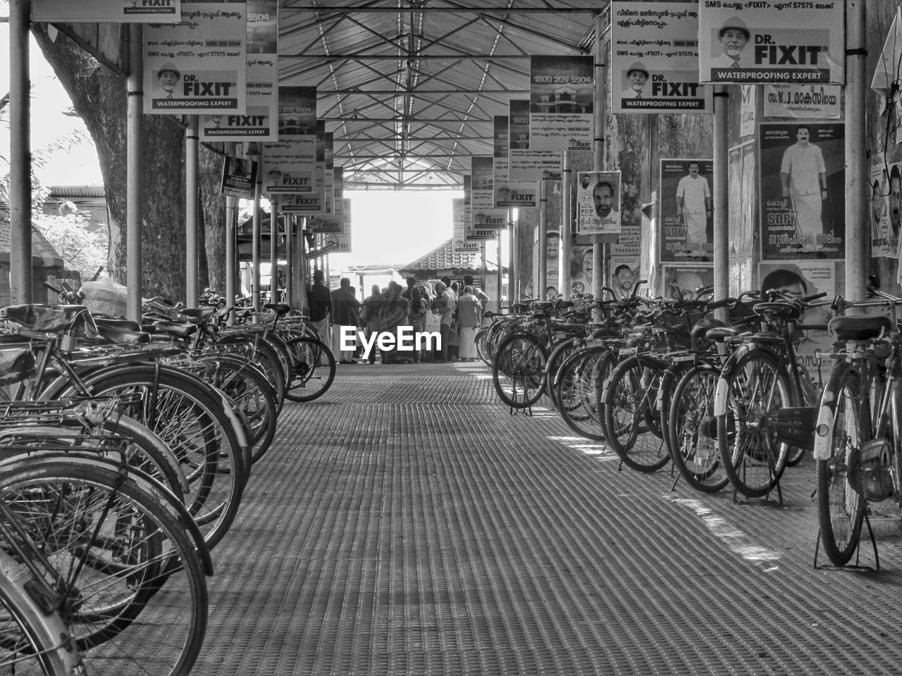 Bicycles Parked In Rack