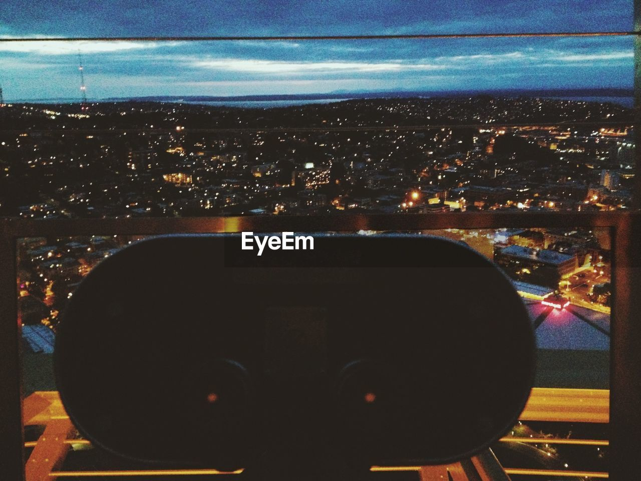 cityscape, city, sky, built structure, architecture, illuminated, building exterior, no people, night, close-up, technology, outdoors, coin-operated binoculars, modern