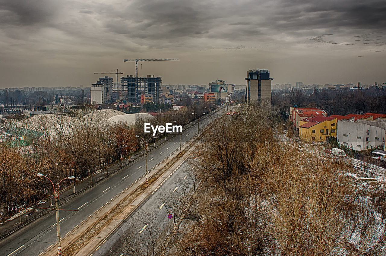 View Of Cityscape Against Sky