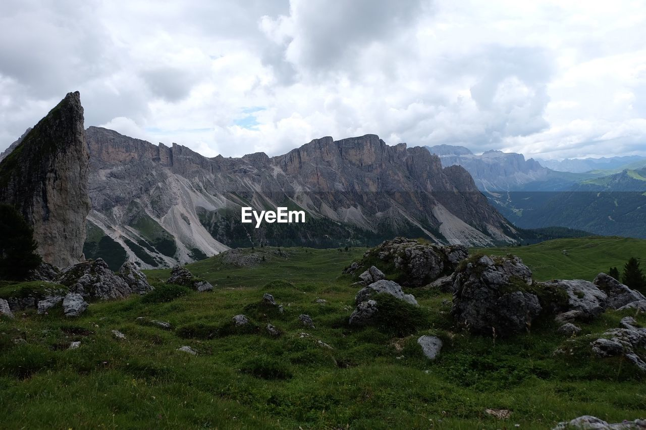 mountain, sky, scenery, landscape, nature, beauty in nature, wilderness, cloud - sky, outdoors, day, no people
