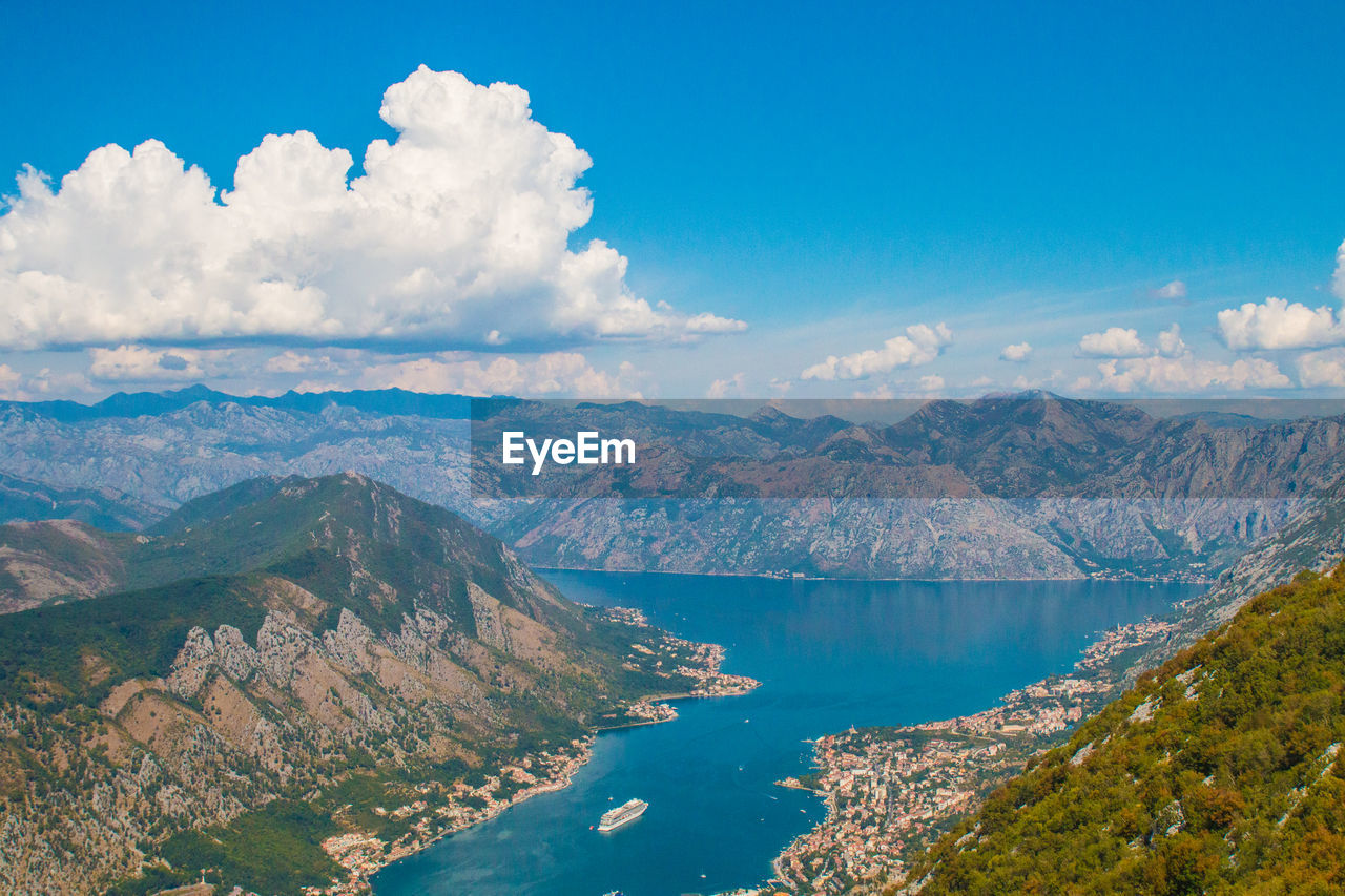 Lanscape and frame about all mountains and nature around kotor. bay of kotor