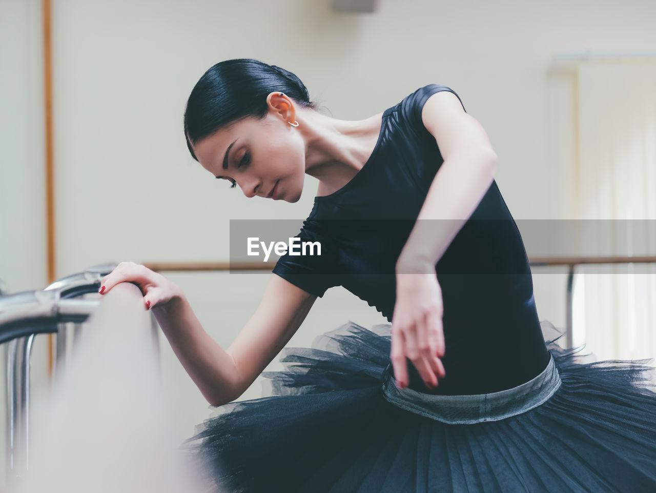 Dancer Dancing In Ballet Studio