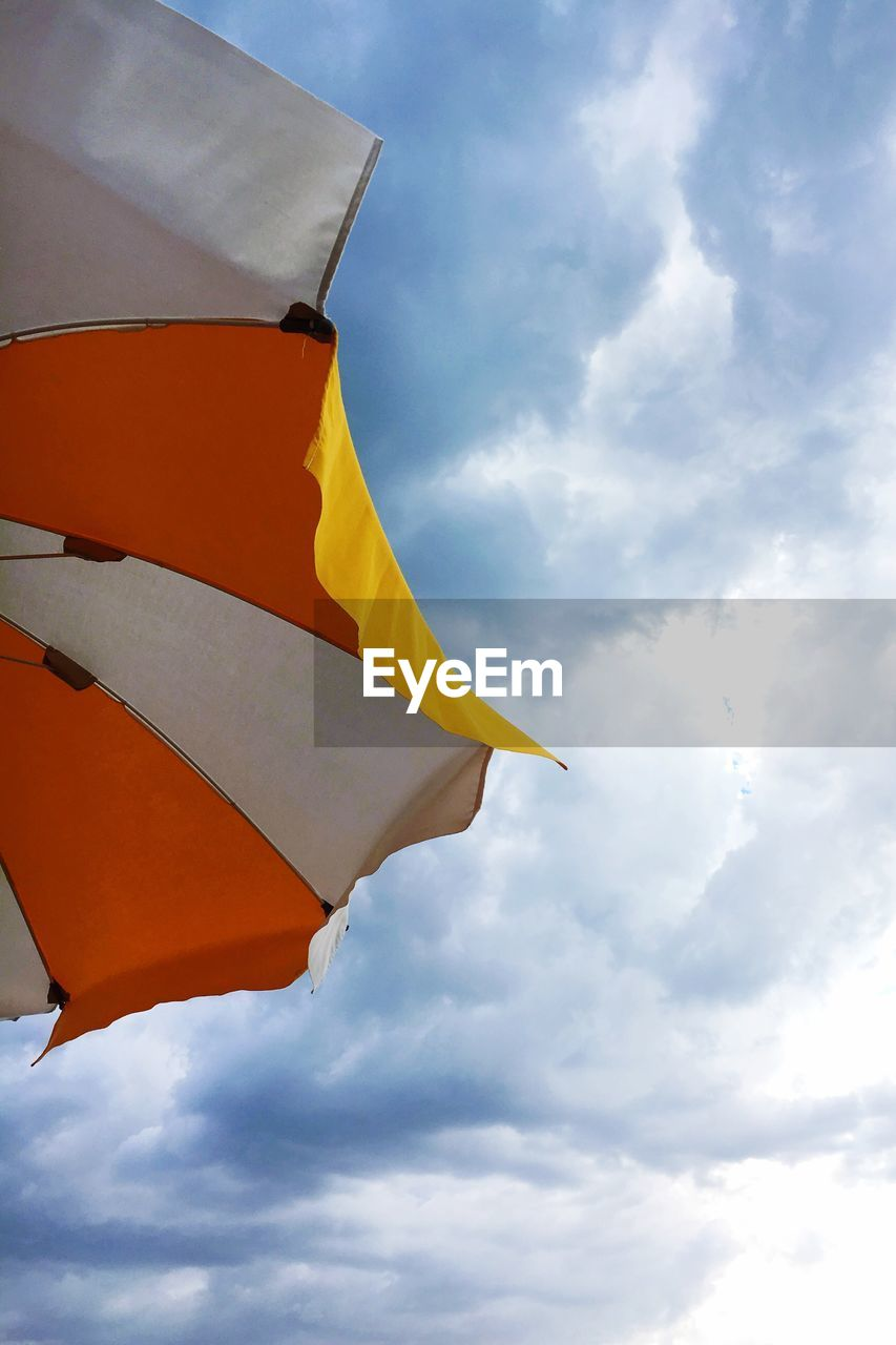 Low Angle View Of Parasol Against Sky