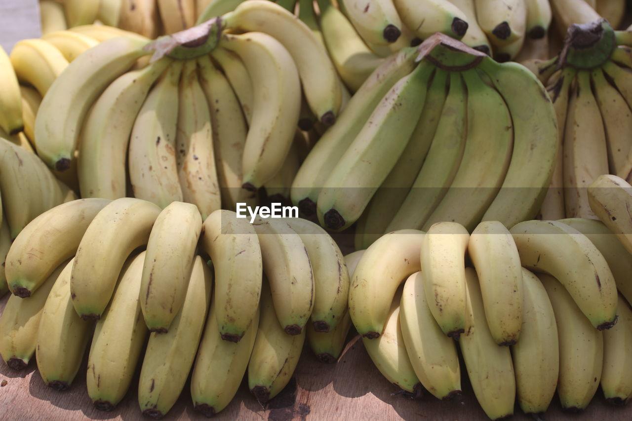 Close-up of banana fruits for sale at market stall