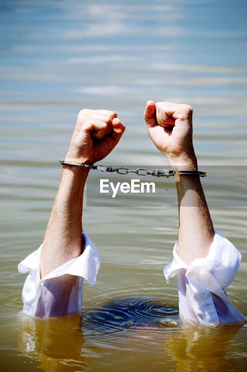Handcuffs Man Drowning In Lake