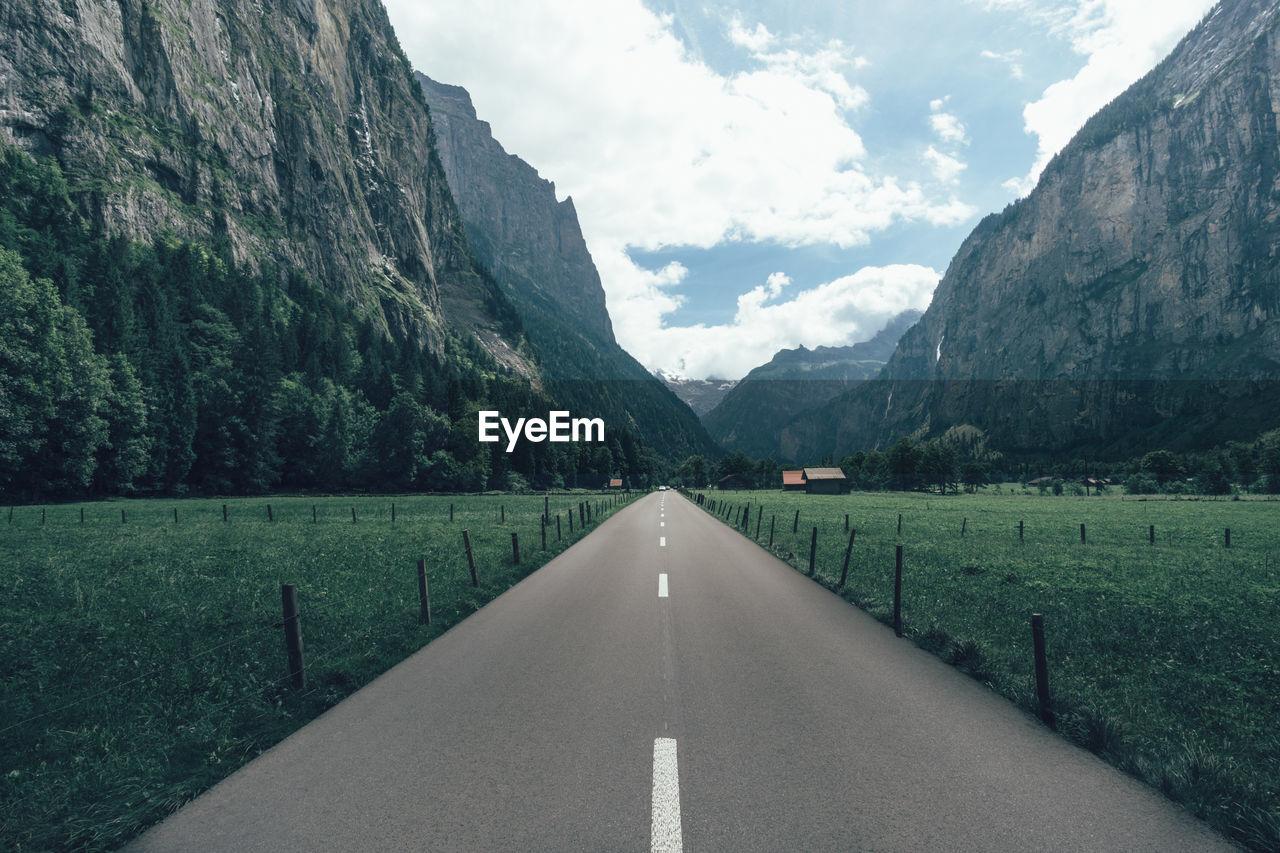 Road Passing Through Mountain Landscape