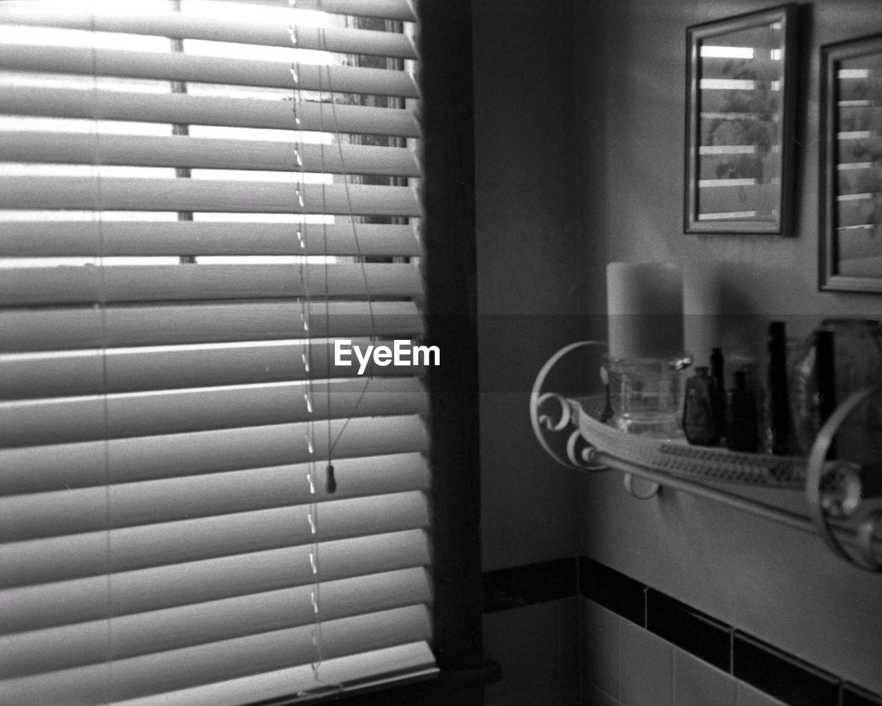 Window Blinds In Room At Home