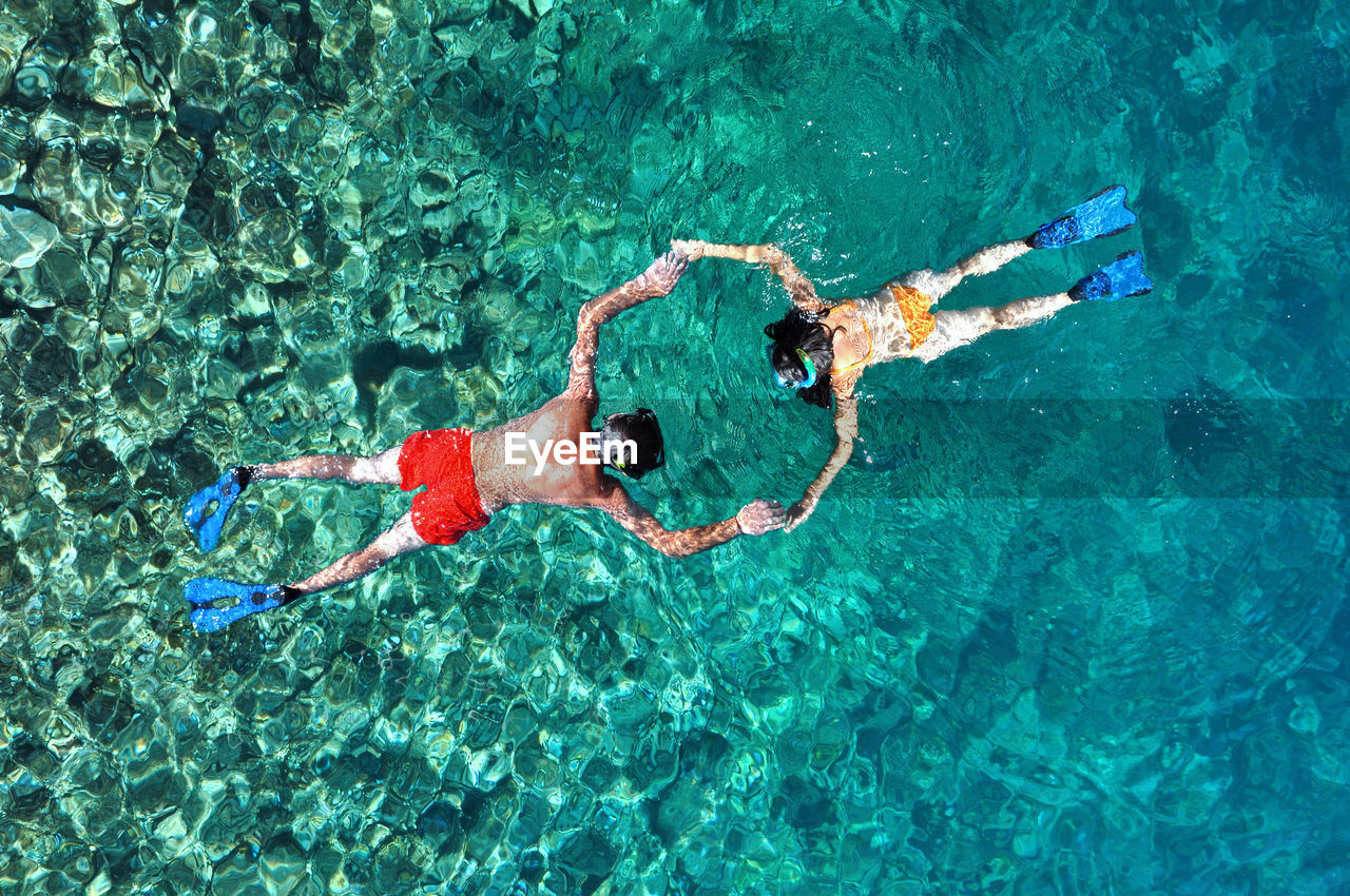 Full Frame Shot Of People In Sea