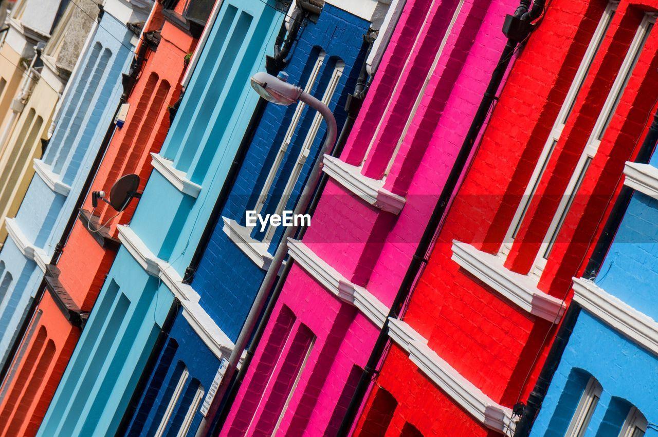Full Frame Shot Of Colorful Buildings