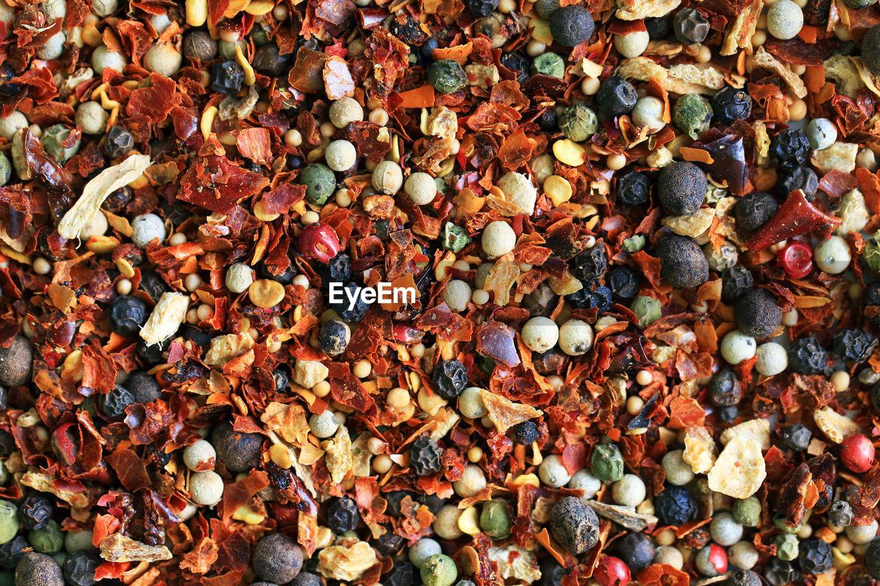 Full frame shot of indian spices