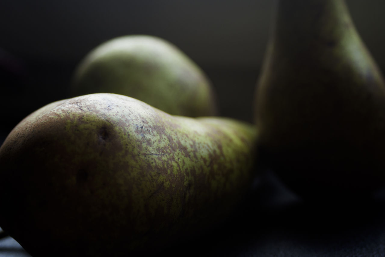 Close-Up Of Pears On Table