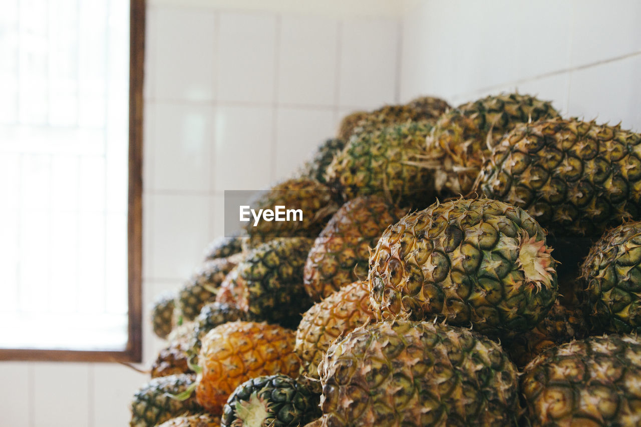 Close-Up Of Pineapples