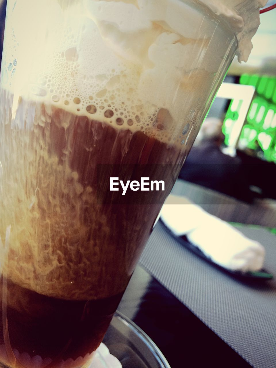drink, refreshment, food and drink, coffee - drink, drinking glass, frothy drink, close-up, freshness, iced coffee, table, no people, indoors, alcohol, latte, food, cold temperature, cappuccino, day