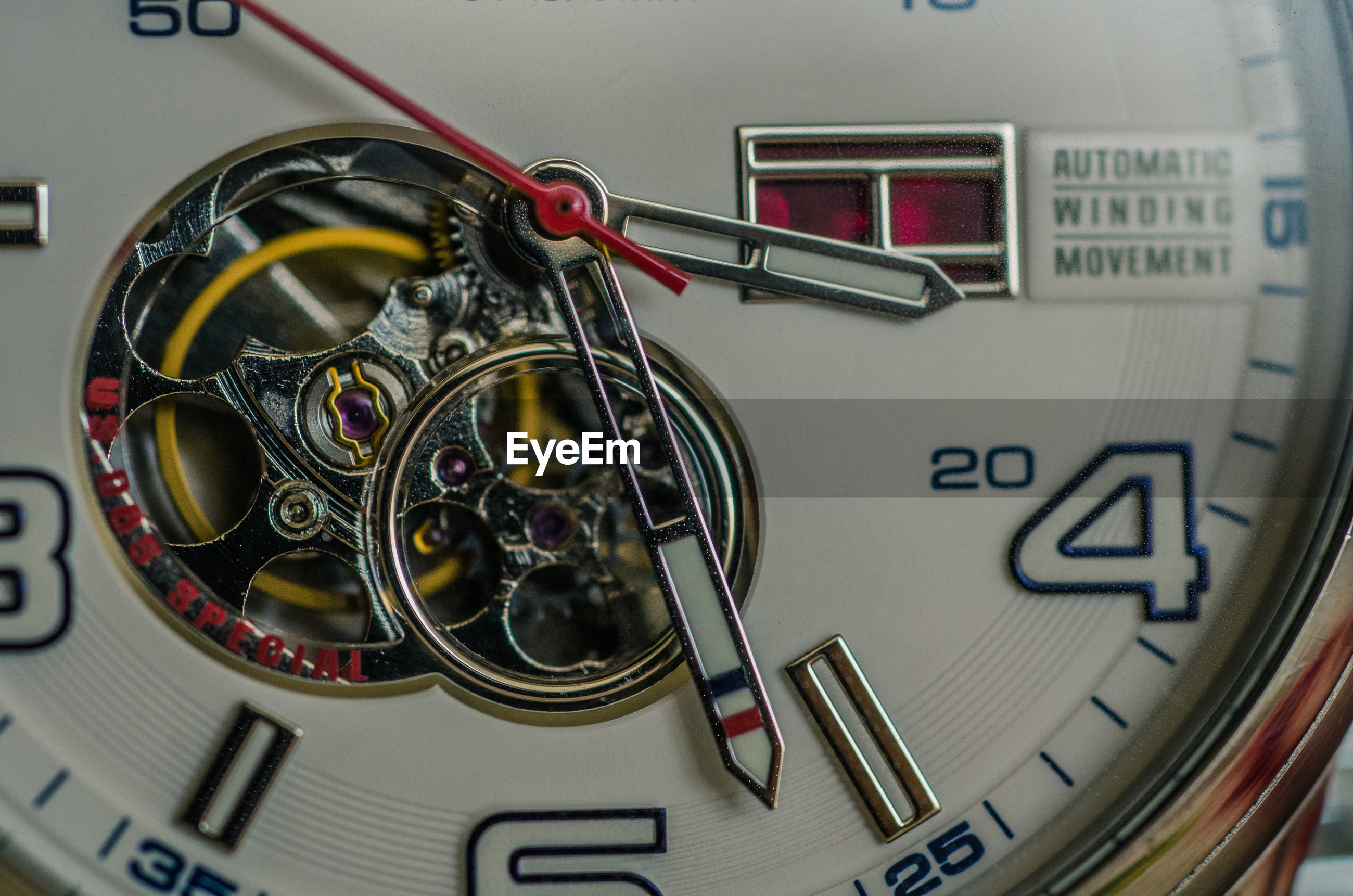 Extreme close-up of clock