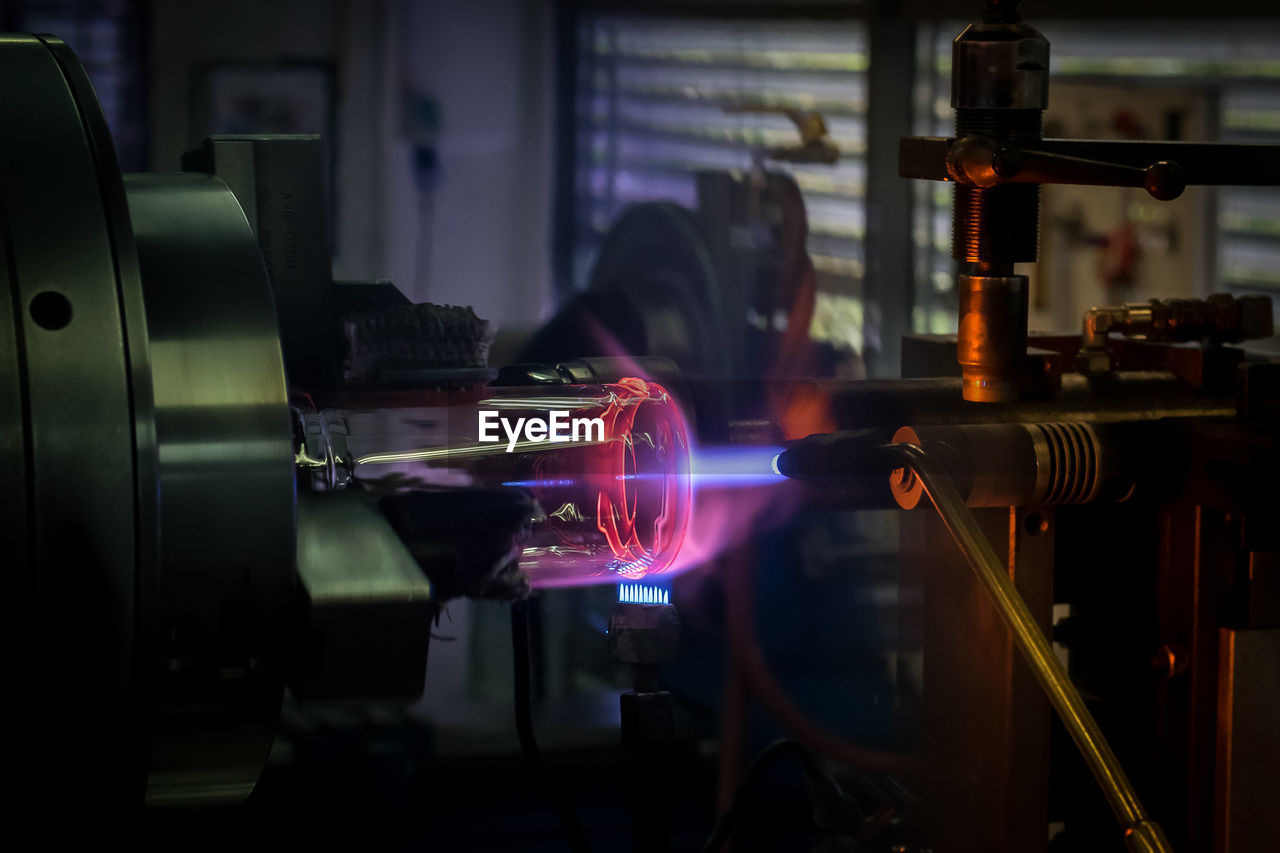 Close-Up Of Welding Torch In Factory