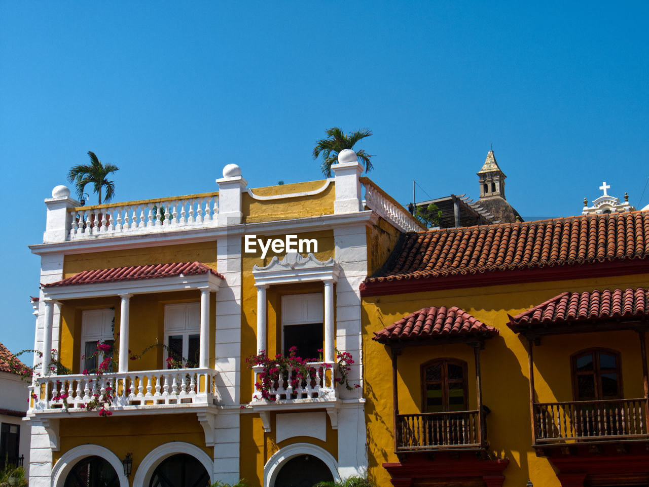 Colonial and republican architecture  styles in the old city of cartagena, colombia