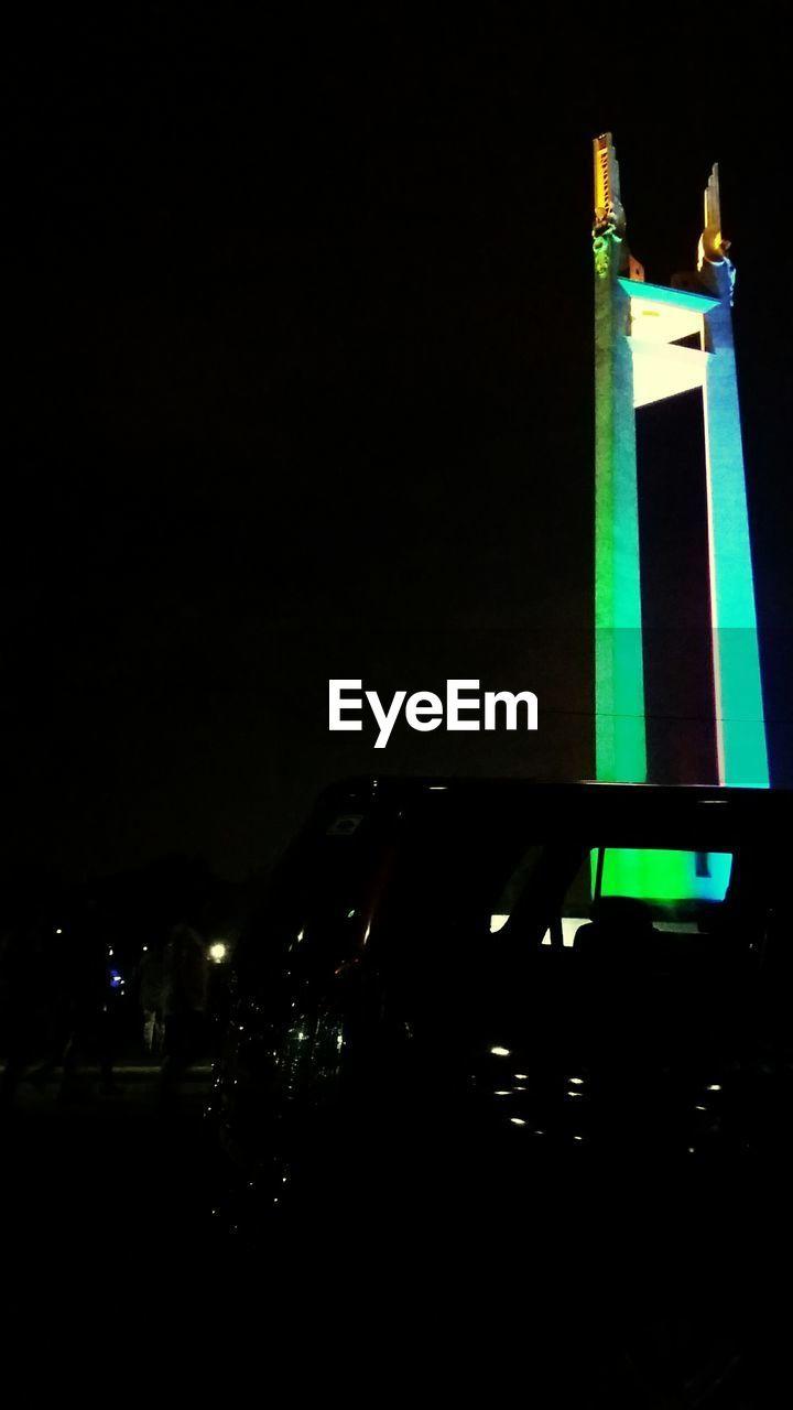 illuminated, night, copy space, lighting equipment, no people, outdoors