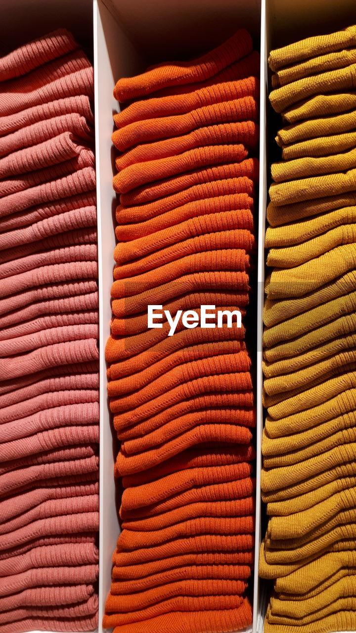 Full frame shot of multi colored socks