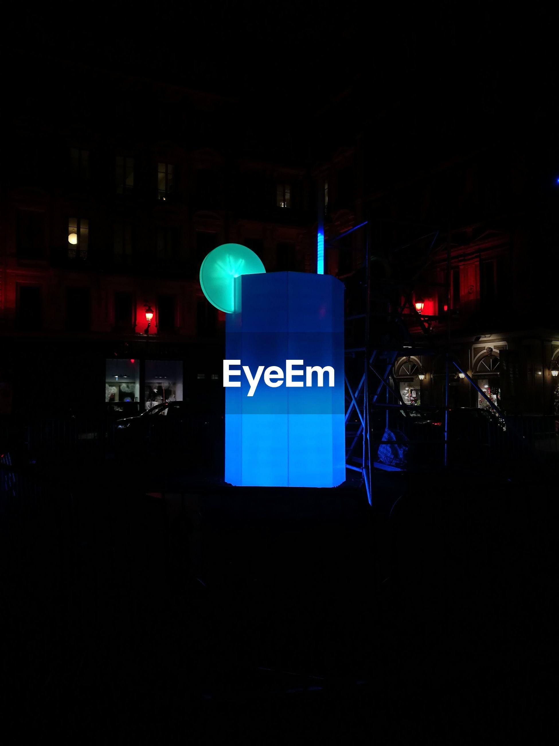 night, illuminated, blue, communication, technology, architecture, no people, outdoors