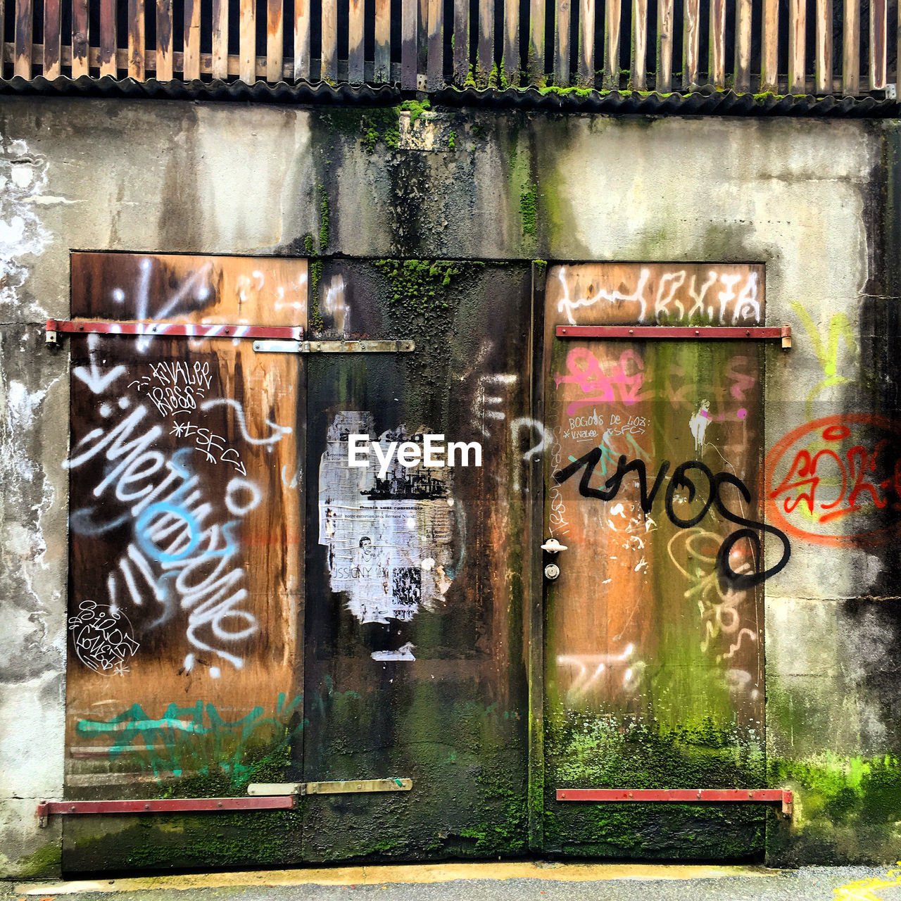 graffiti, text, metal, no people, day, communication, built structure, outdoors, architecture, close-up, building exterior