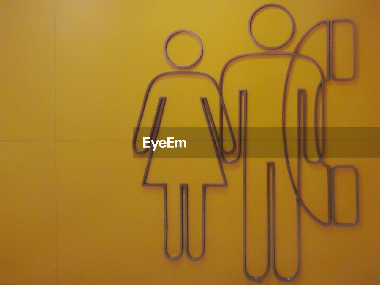 yellow, no people, communication, indoors, studio shot, close-up, day