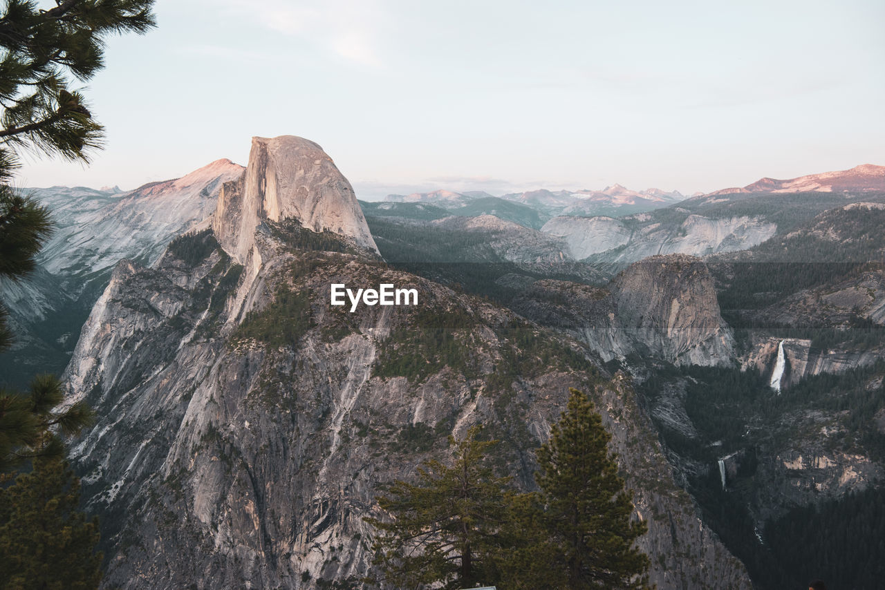 Half dome view from glacier point in yosemite national park