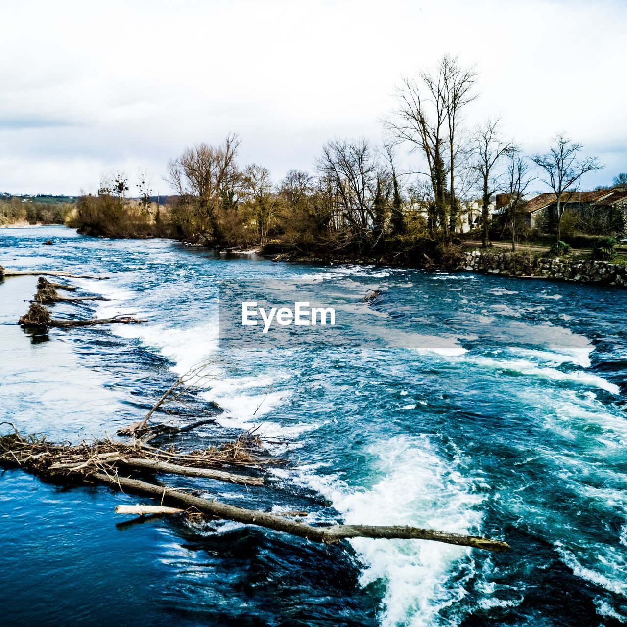 water, scenics - nature, sky, beauty in nature, tree, no people, nature, river, day, waterfront, motion, tranquil scene, tranquility, flowing water, plant, flowing, non-urban scene, bare tree, outdoors, power in nature