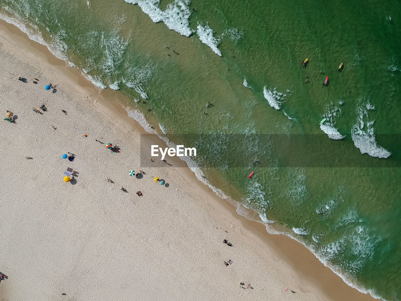 Directly Above View Of Beach On Sunny Day