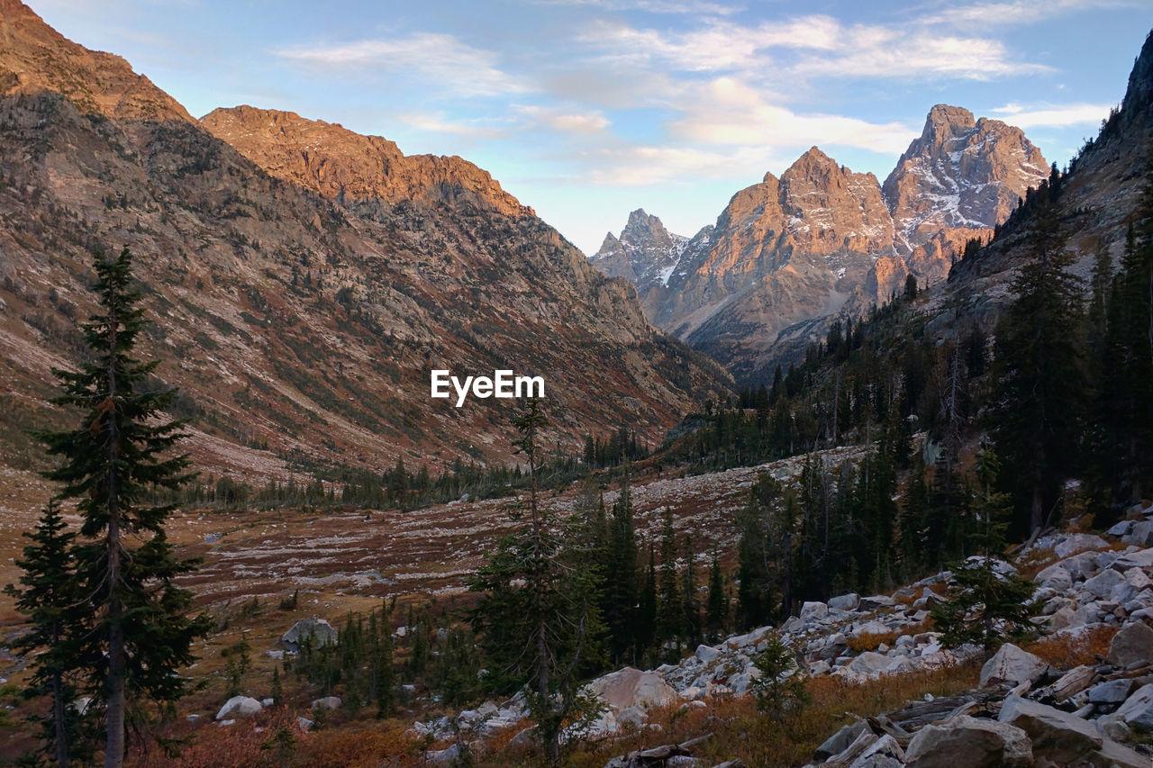 Scenic View Of Teton Range Against Sky