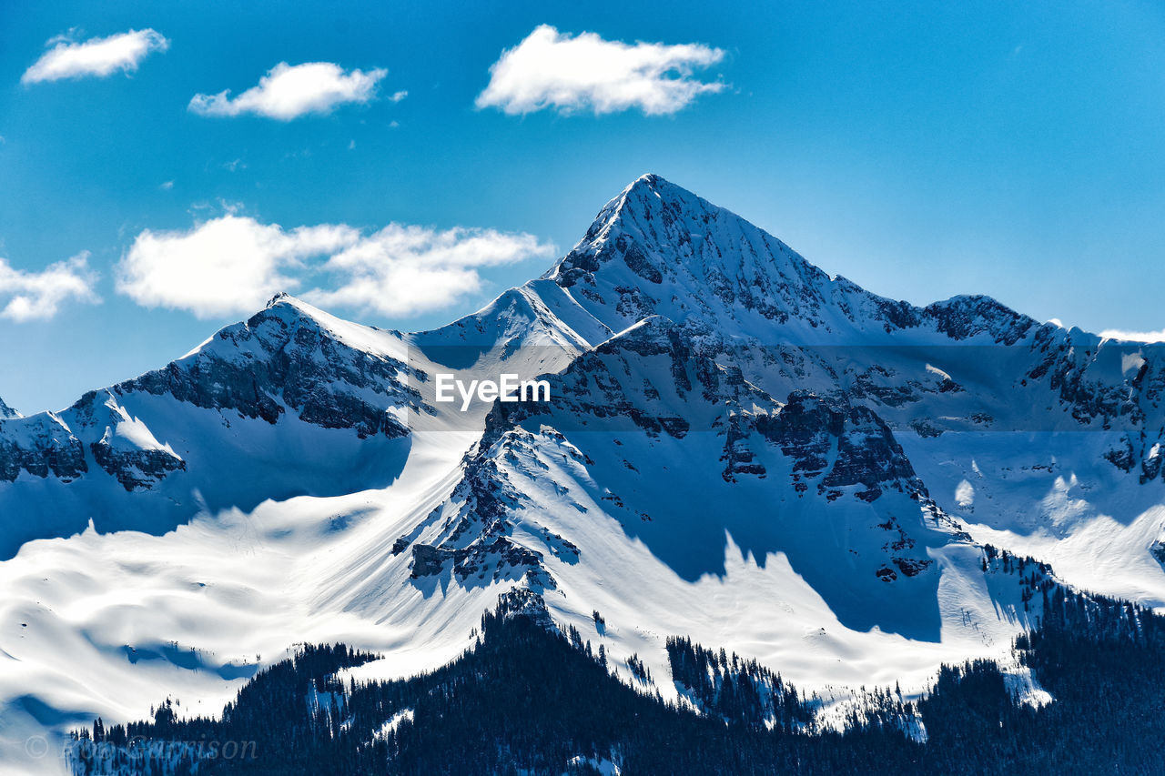 snow, winter, cold temperature, mountain, sky, scenics - nature, cloud - sky, beauty in nature, snowcapped mountain, tranquil scene, mountain range, tranquility, environment, nature, no people, non-urban scene, white color, day, landscape, mountain peak, outdoors, formation