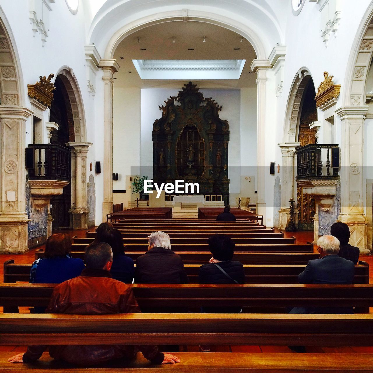 religion, spirituality, place of worship, arch, men, real people, pew, architecture, women, indoors, day, people