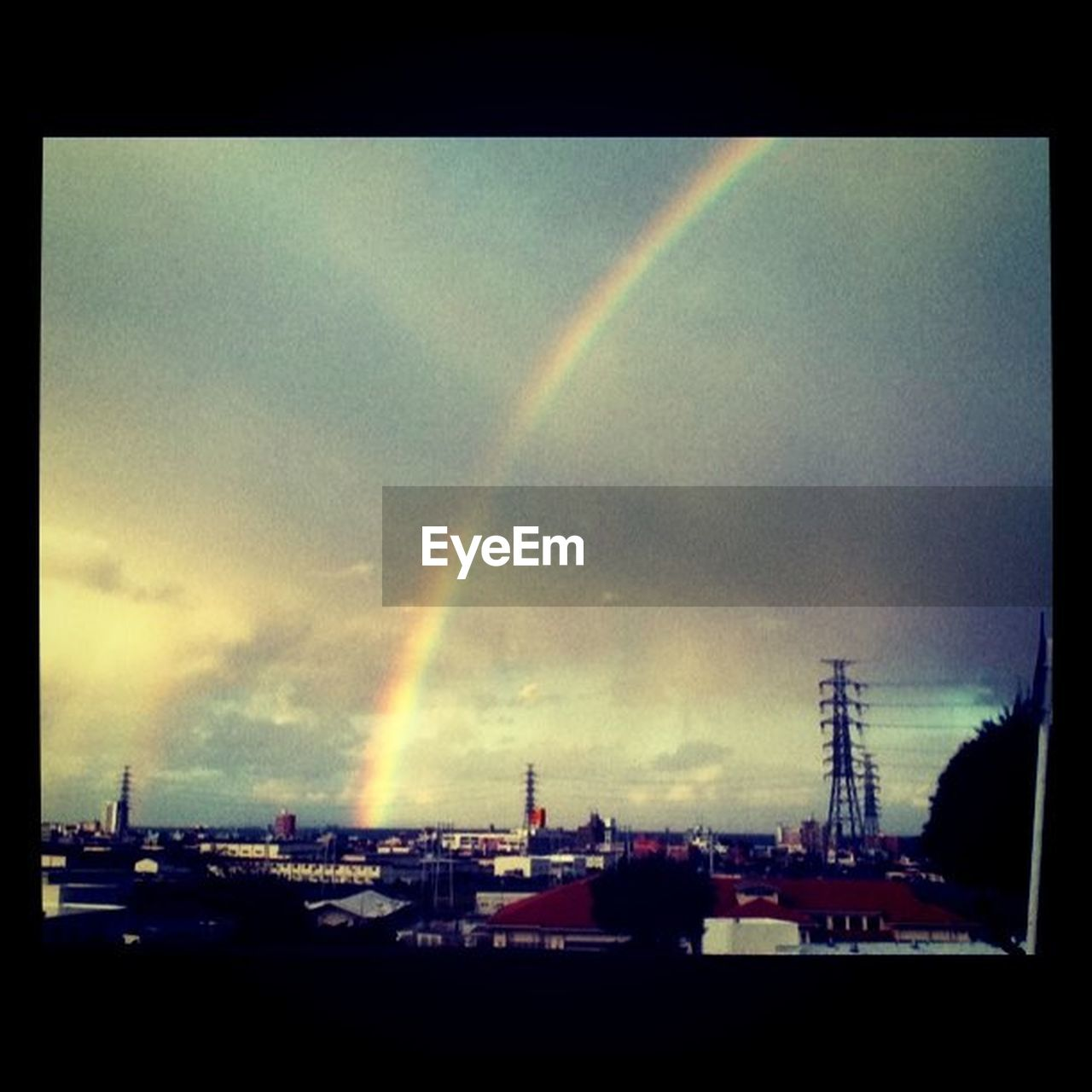 rainbow, double rainbow, no people, building exterior, sky, built structure, outdoors, architecture, day, nature, city, scenics, cityscape, vapor trail