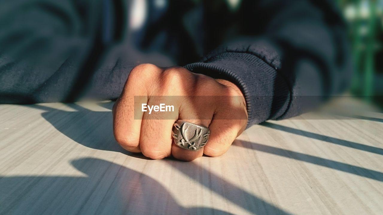 Man Wearing Ring