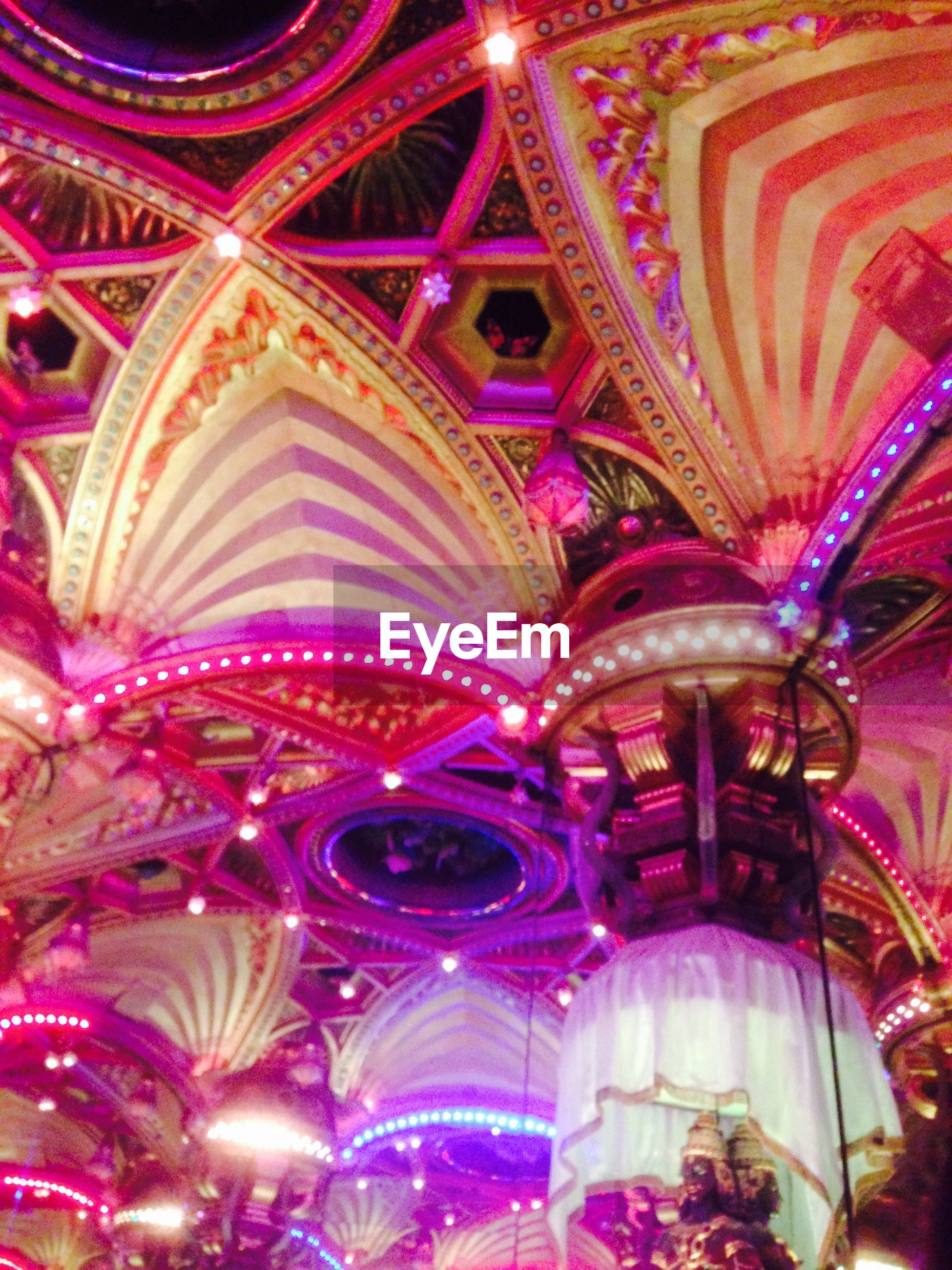 indoors, illuminated, multi colored, decoration, full frame, backgrounds, ornate, pattern, design, tradition, art and craft, night, cultures, celebration, abundance, ceiling, christmas, art, christmas decoration, creativity