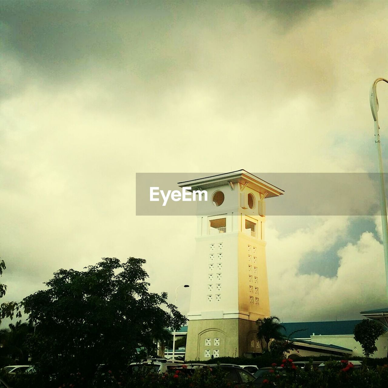 Tower At Montego Bay Against Cloudy Sky
