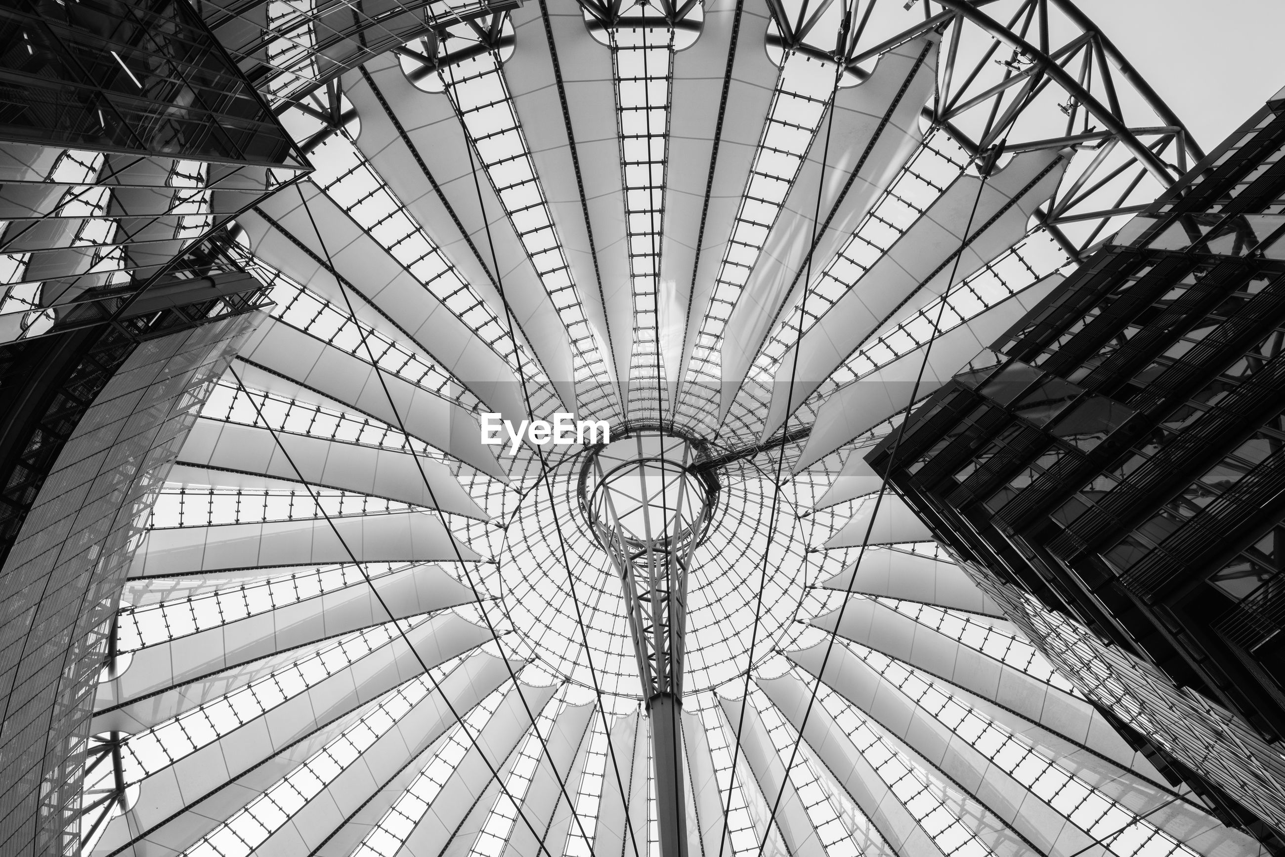 LOW ANGLE VIEW OF SKYLIGHT CEILING
