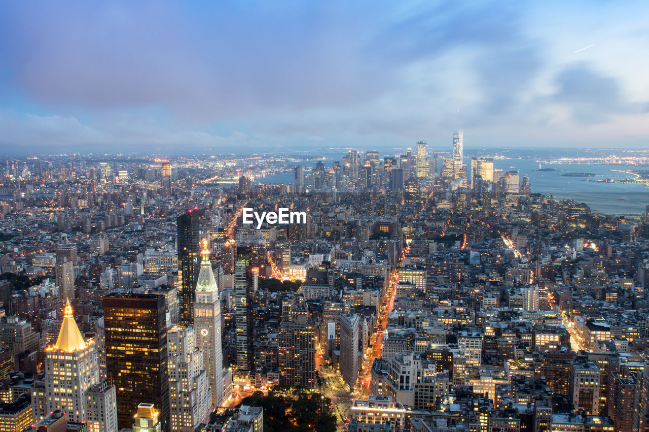 Aerial View Of New York Cityscape