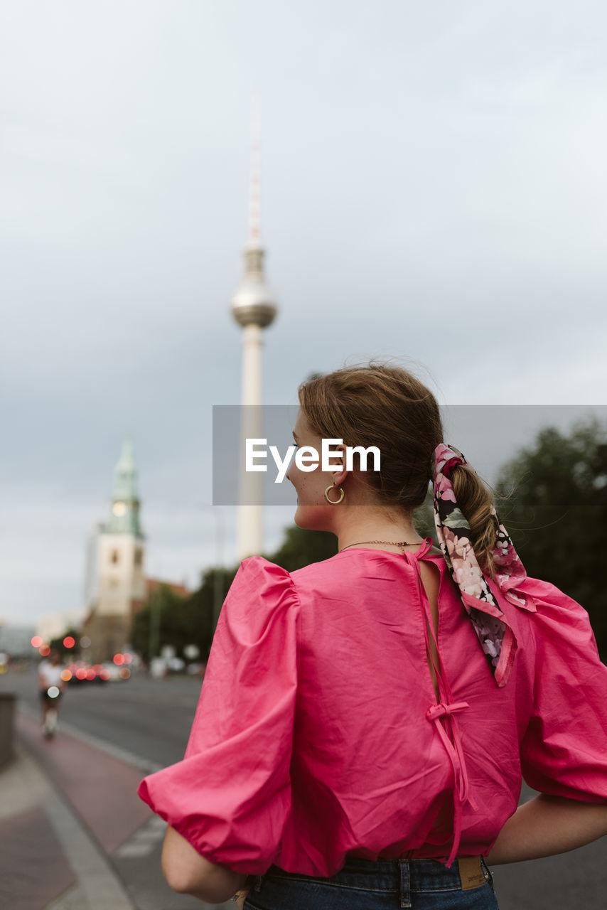 Urban portrait tv tower berlin sightseeing