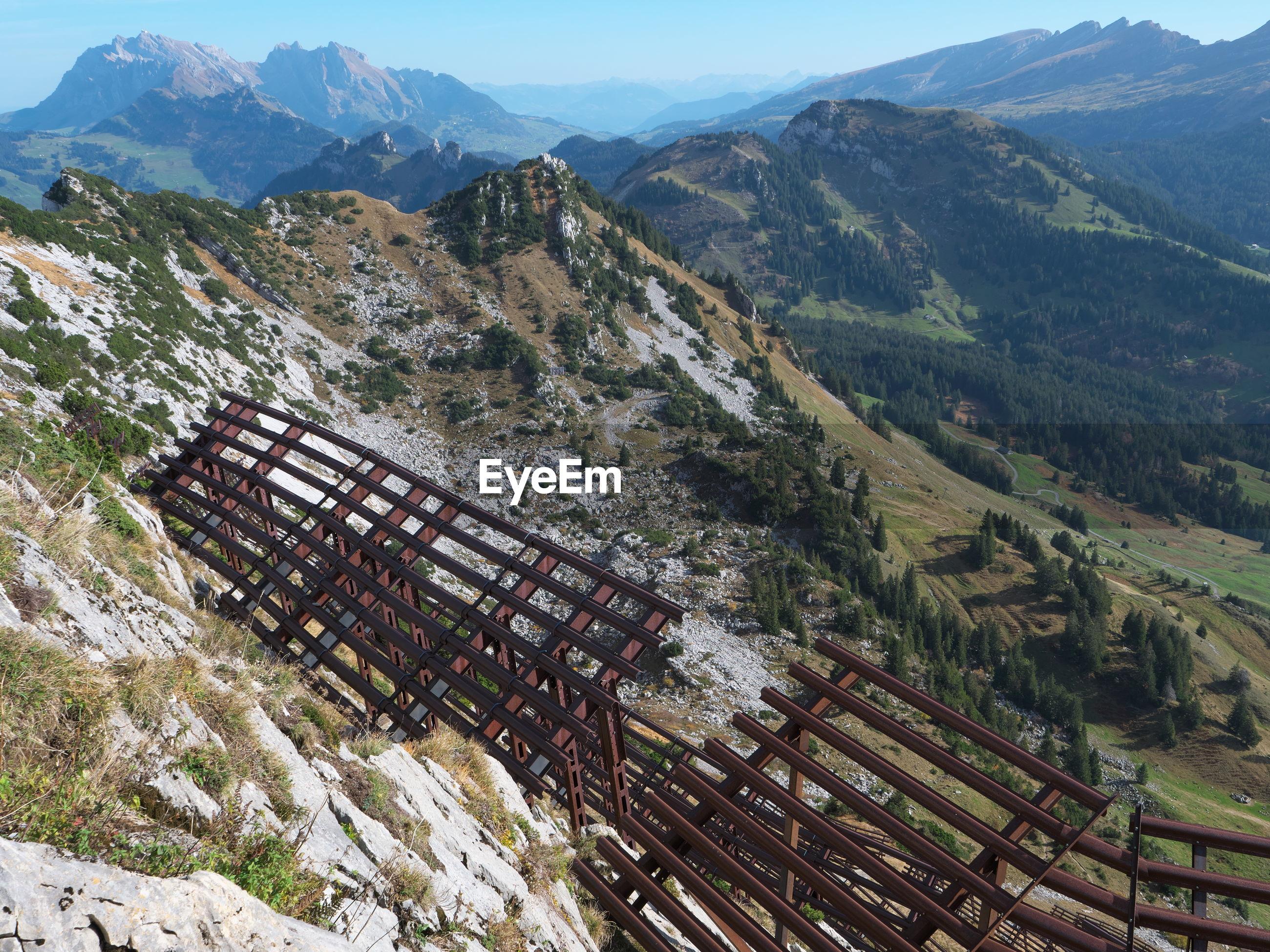 HIGH ANGLE VIEW OF A MOUNTAIN RANGE