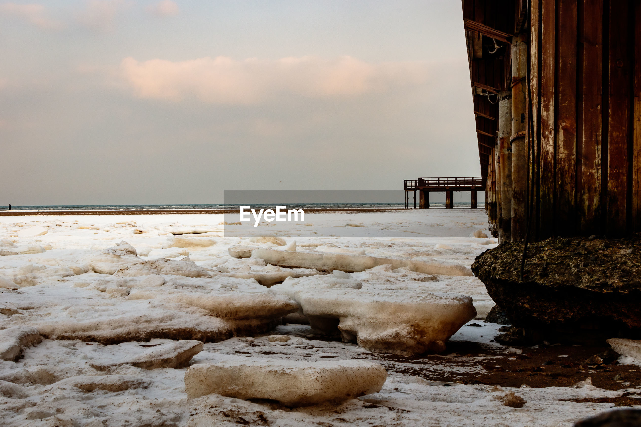 SCENIC VIEW OF SEA DURING WINTER