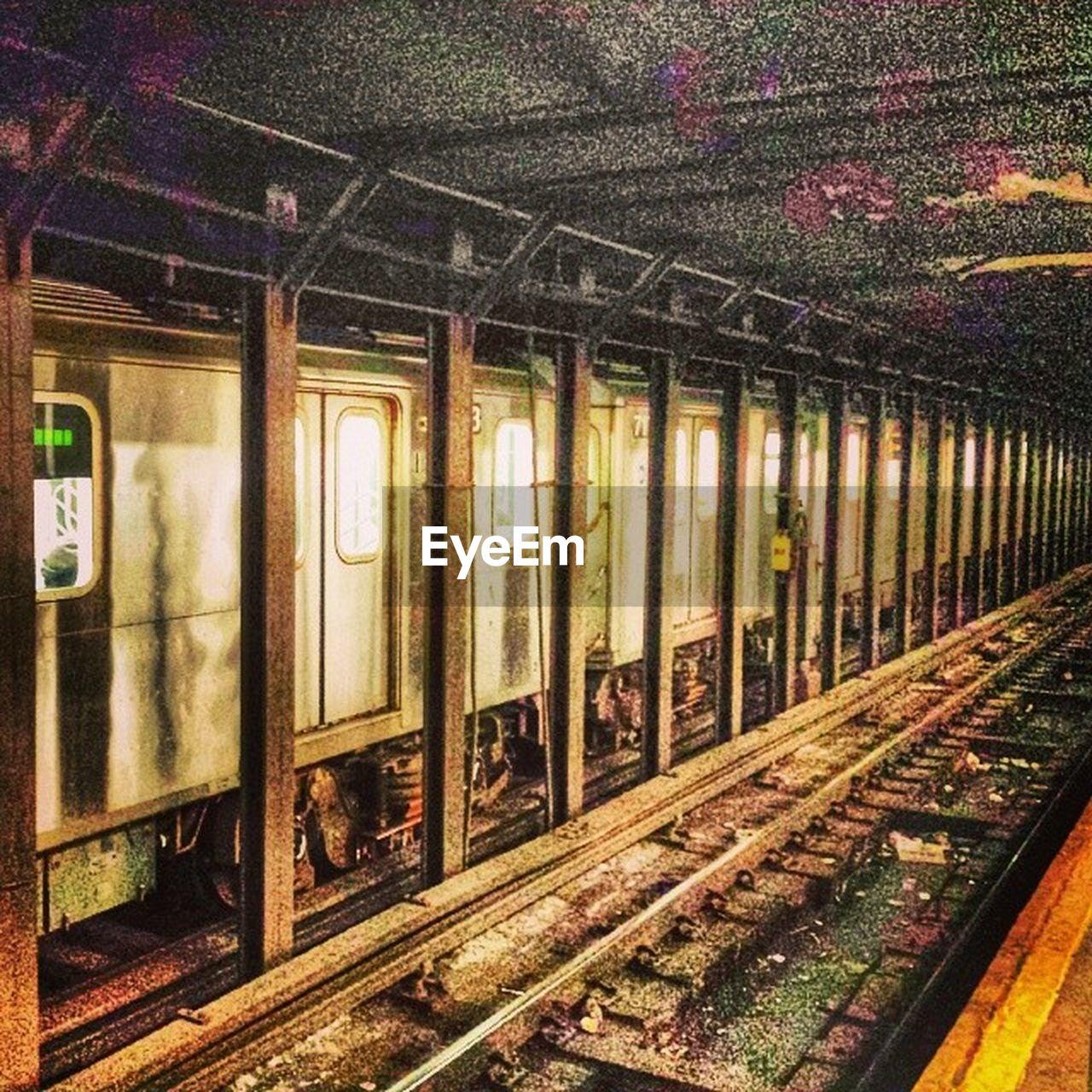 railroad track, rail transportation, transportation, public transportation, no people, day, outdoors, tree