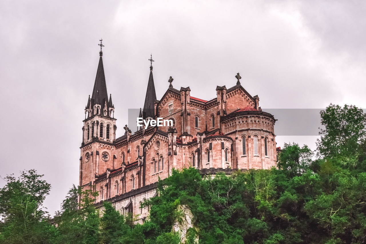 building exterior, architecture, built structure, tree, sky, plant, building, cloud - sky, low angle view, nature, history, the past, no people, travel destinations, place of worship, religion, travel, day, outdoors, spire