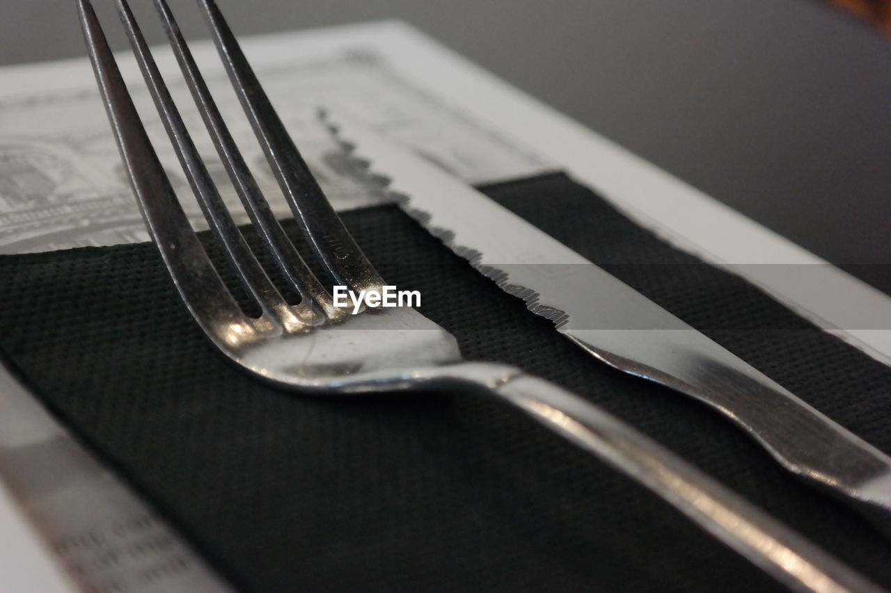 Close-up of fork