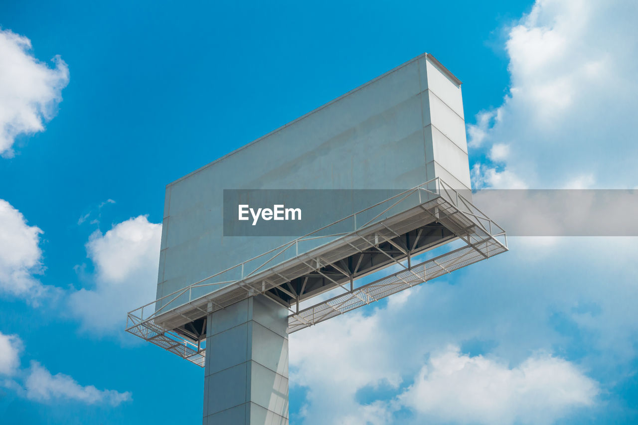Low Angle View Of Billboard Against Sky
