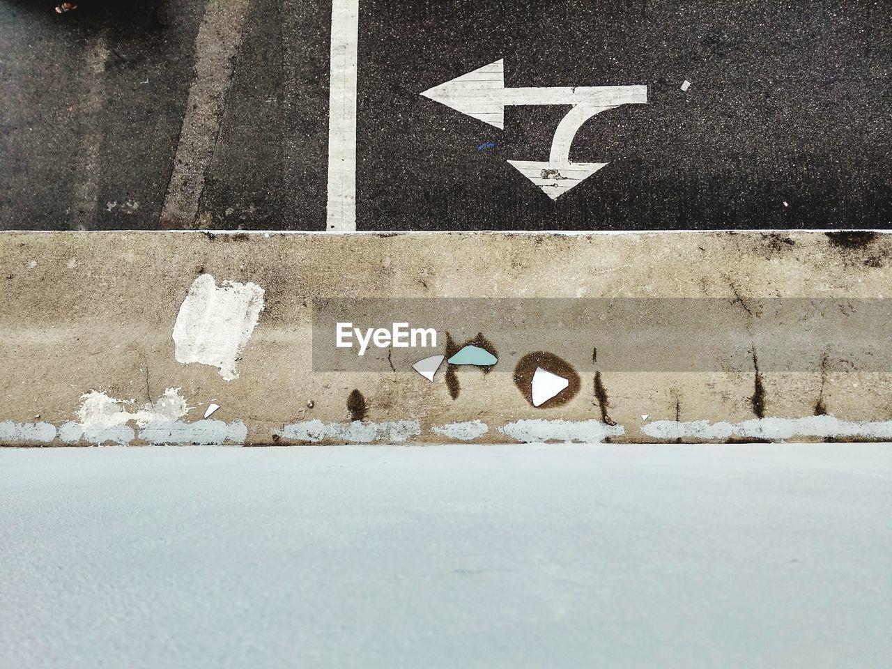 Arrow Symbol On Road Marking