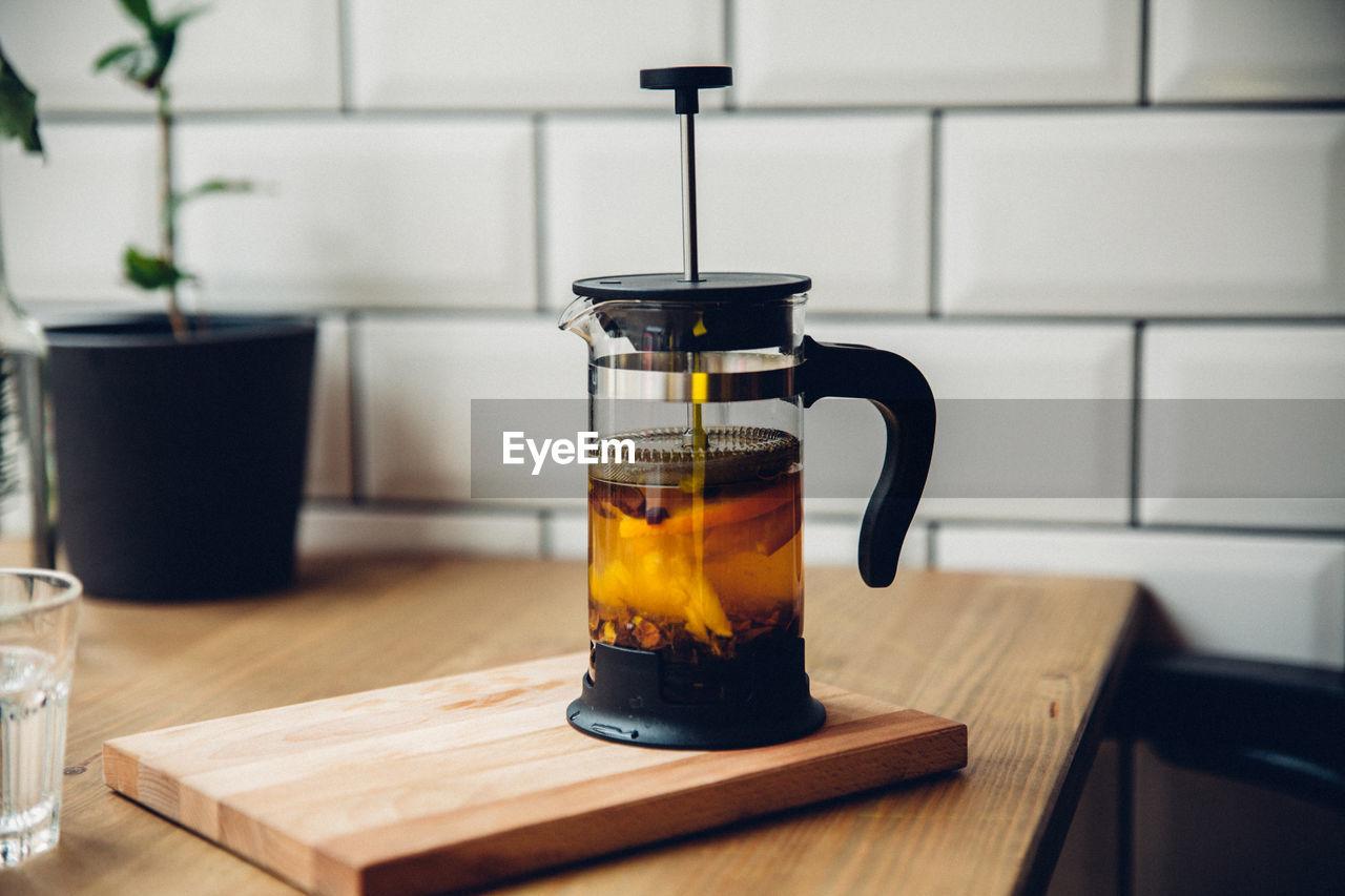 Close-Up Of Tea Maker