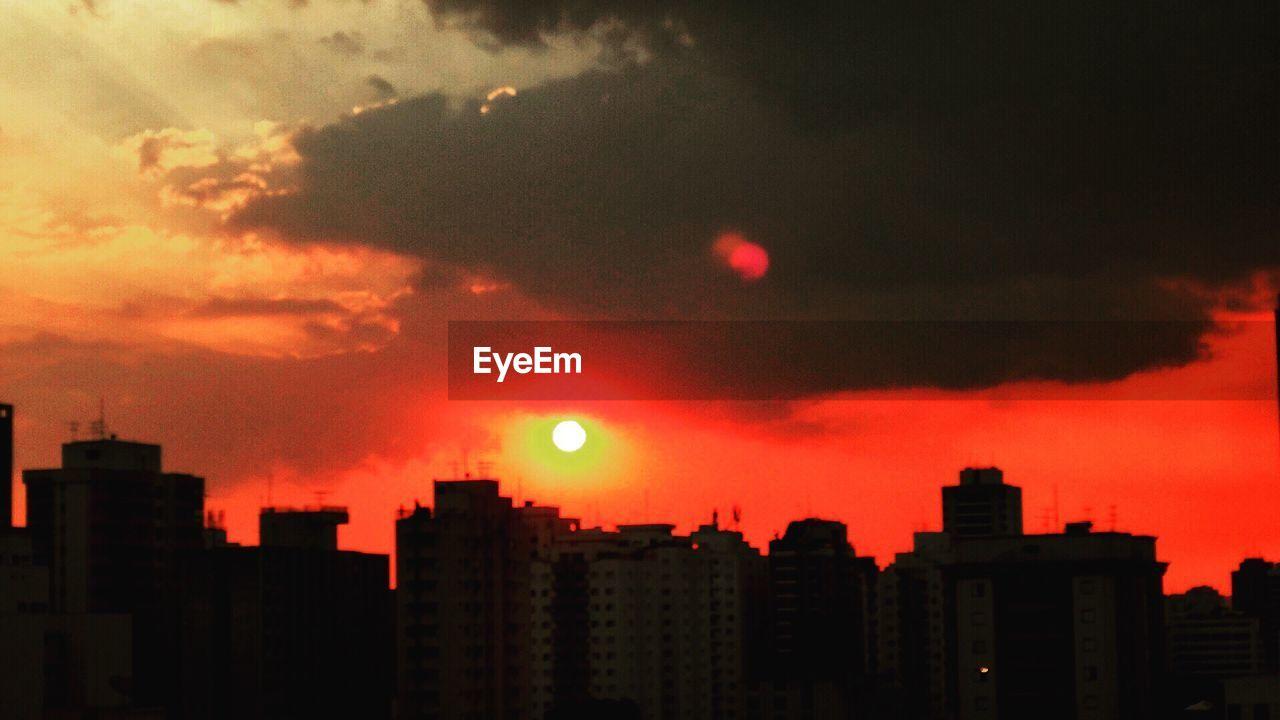 sunset, building exterior, architecture, sky, city, skyscraper, built structure, cityscape, no people, outdoors, nature
