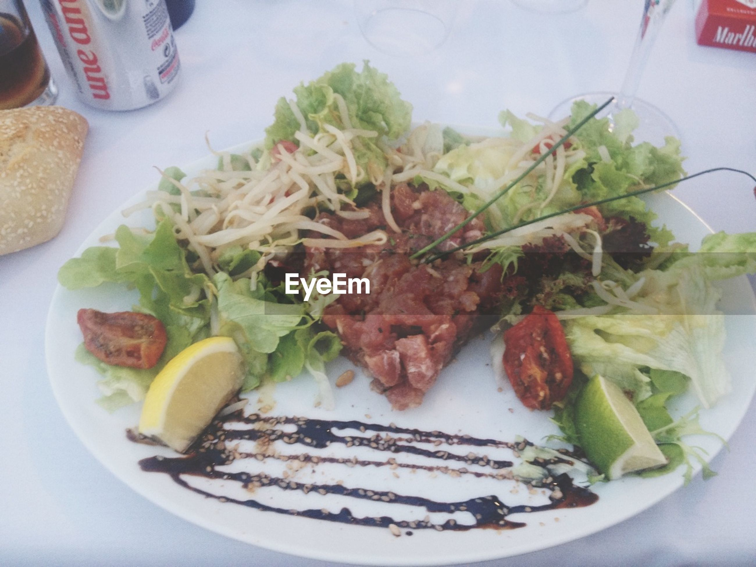 food and drink, food, indoors, freshness, ready-to-eat, plate, still life, healthy eating, serving size, meal, table, close-up, meat, salad, vegetable, high angle view, indulgence, served, seafood, lunch