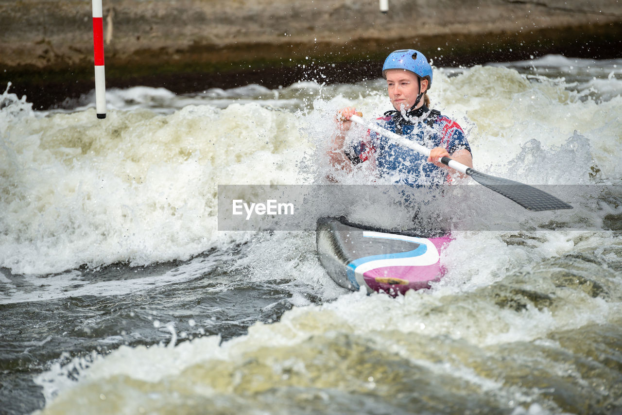 Portrait of man in water