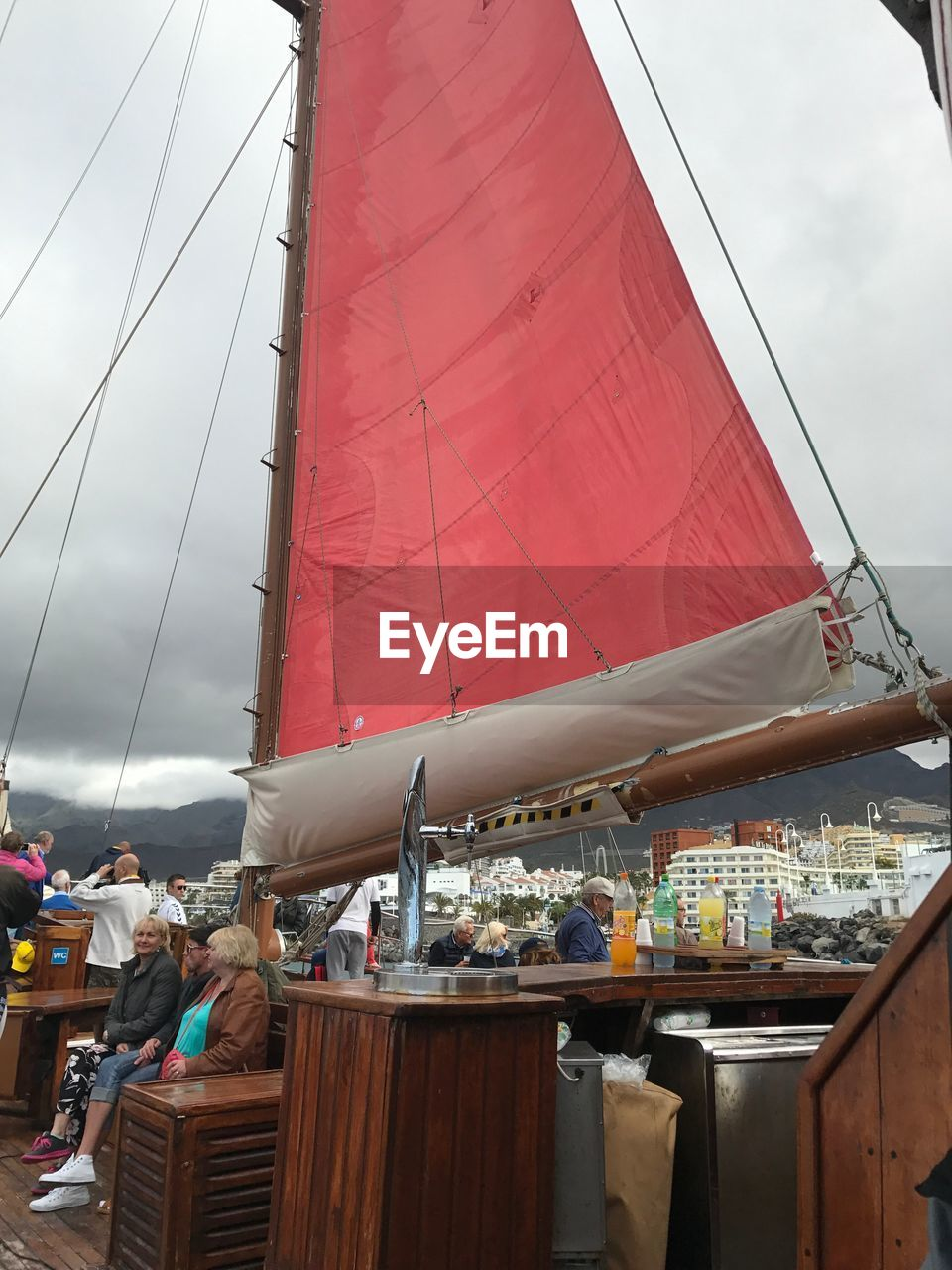 real people, day, outdoors, men, nautical vessel, sky, sailing, people
